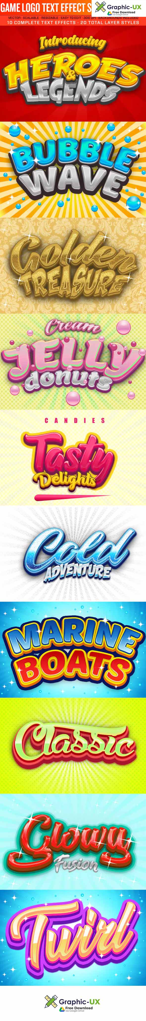 Game Logo Text Effect Styles 2