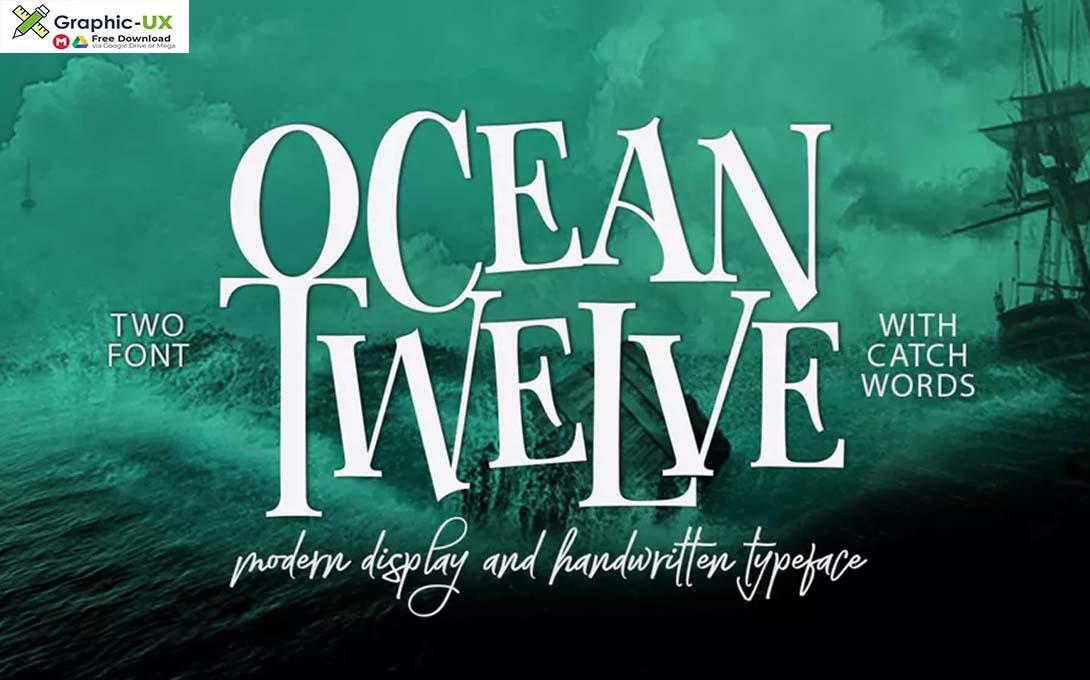 Ocean Twelve Font Duo + Extras Font