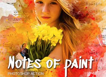 Notes of paint Photoshop Action