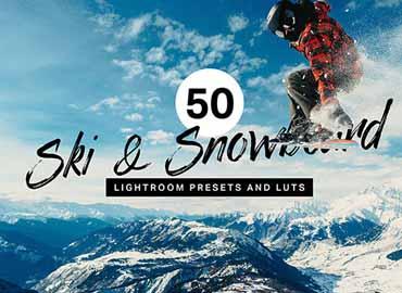 50 Ski & Snowboard Lightroom Presets and LUTs