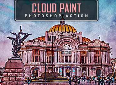 Cloud Paint Photoshop Action